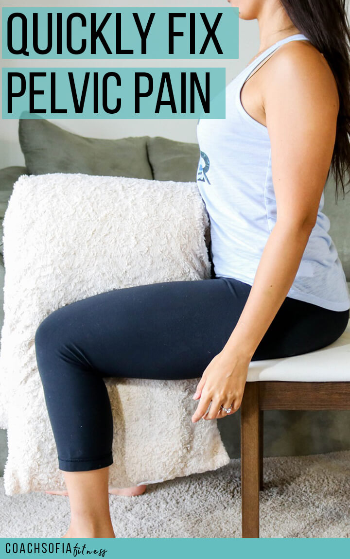 Fix pelvic pain, and hip pain quickly with this simple exercise. If you have sciatica, piriformis syndrome and hip pain during the day, grab a pillow and do this exercise for quick relief