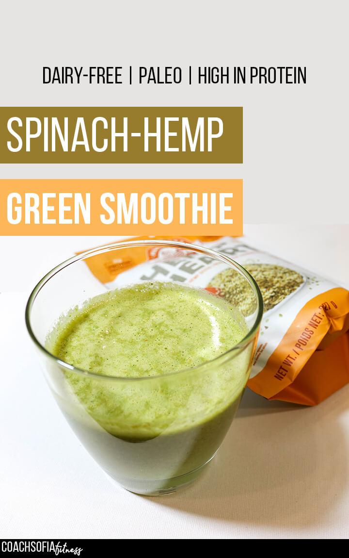 hemp protein green smoothie | healthy smoothies
