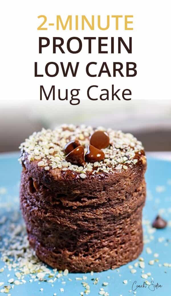 2 Minute Flourless Protein Mug Cake