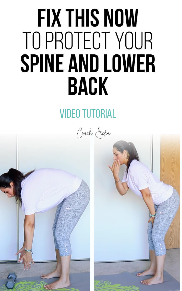 lower back pain when bending over