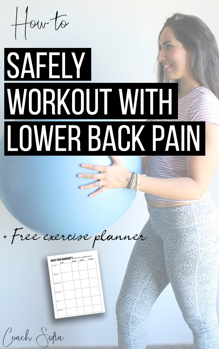 how to workout with lower back pain, and piriformis syndrome or sciatica and not flare things up