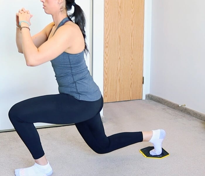 sliding backward lunges