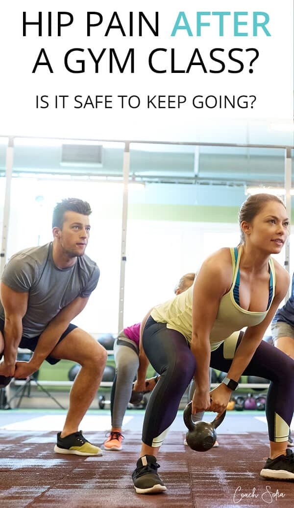 Hip and muscle pain after gym