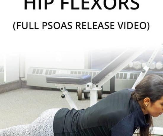 massage and release tight PSOAS hip flexors